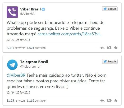 Viber e Telegram discutem no Twitter e quem leva a melhor é a Samsung