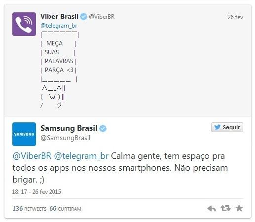 Viber e Telegram discutem no Twitter e quem leva a melhor é a Samsung2
